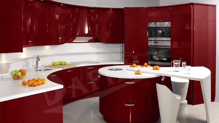 Идеи красной кухни фото